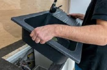 how to remove kitchen sink